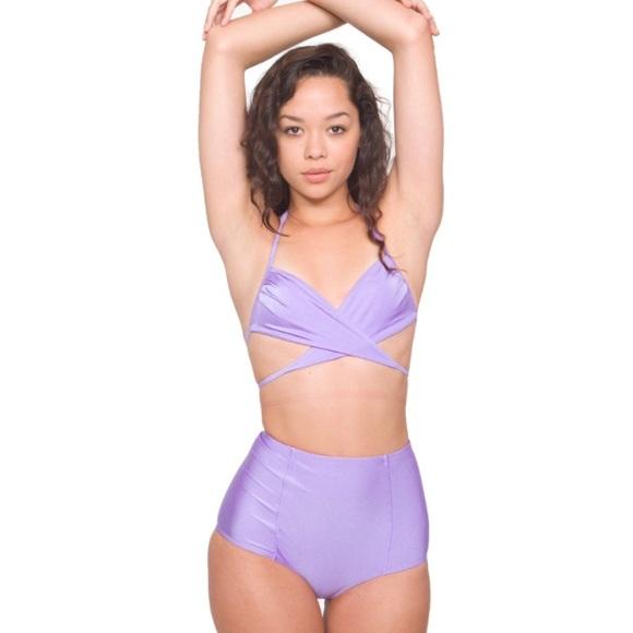 6a89c549c8 American Apparel Swim | Purple High Waisted Bikini Bottom | Poshmark